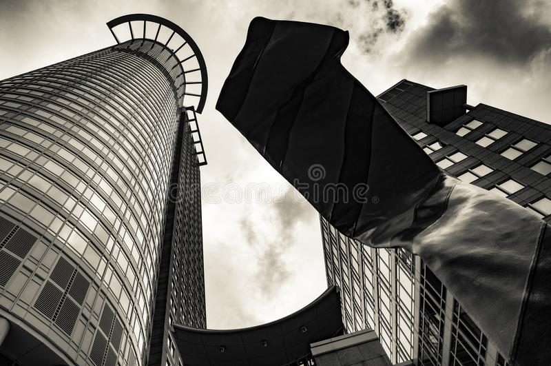 Башня Westend в Франкфурте-на-Майне, Германии стоковое изображение