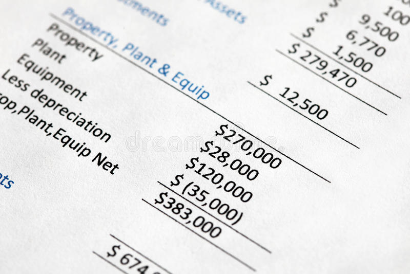 Баланс активов и пассивов компании стоковая фотография rf