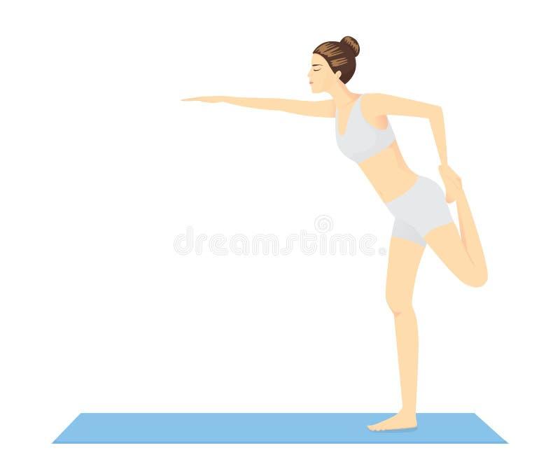 Баланс и красота тела формируют с разминкой йоги бесплатная иллюстрация