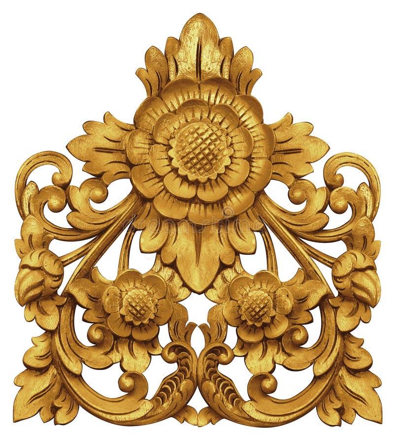 Балийский орнамент цветка стоковое изображение rf