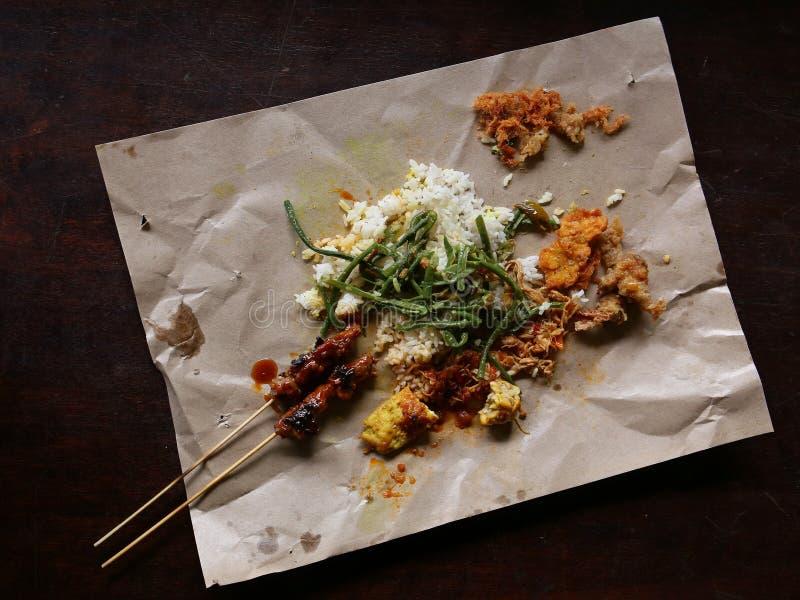 Балийское campur Nasi еды улицы стоковая фотография