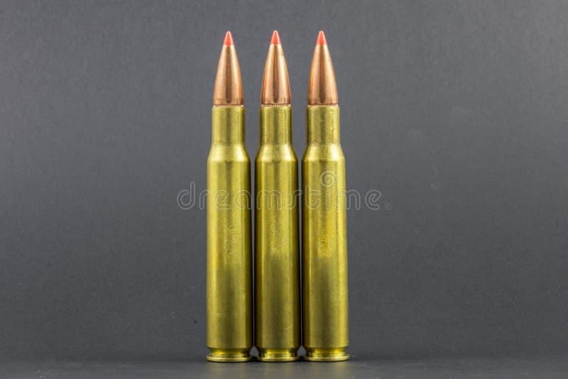 3 баллистических круга винтовки подсказки стоковое изображение rf