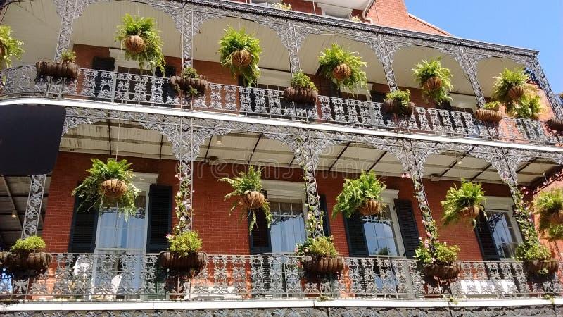 балкон New Orleans стоковое изображение rf