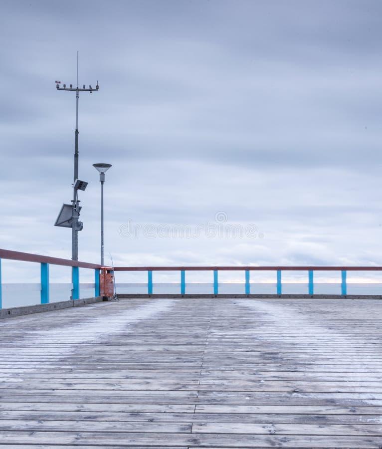 Балтийское море и пристань стоковые изображения