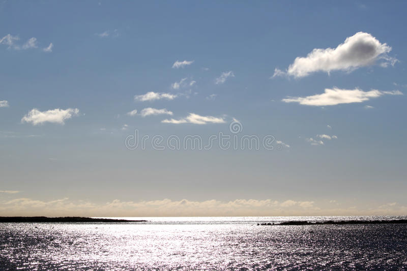 Балтийское море увиденное от Skanors Ljung, Швеции стоковые фото