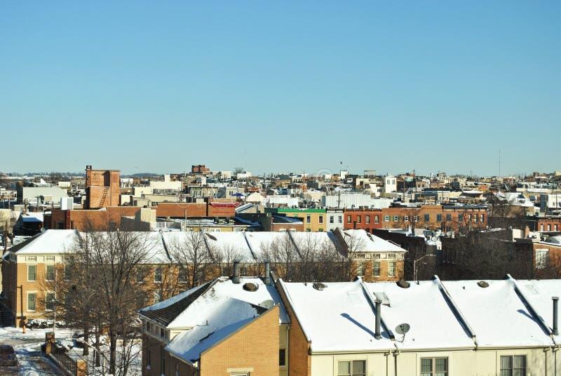 Балтимор в снеге стоковое изображение rf