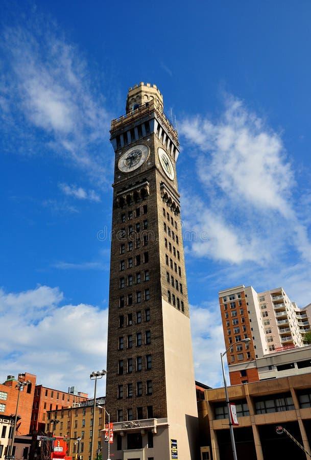Балтимор, MD: Башня 1911 Bromo-сельтерской воды стоковые фотографии rf