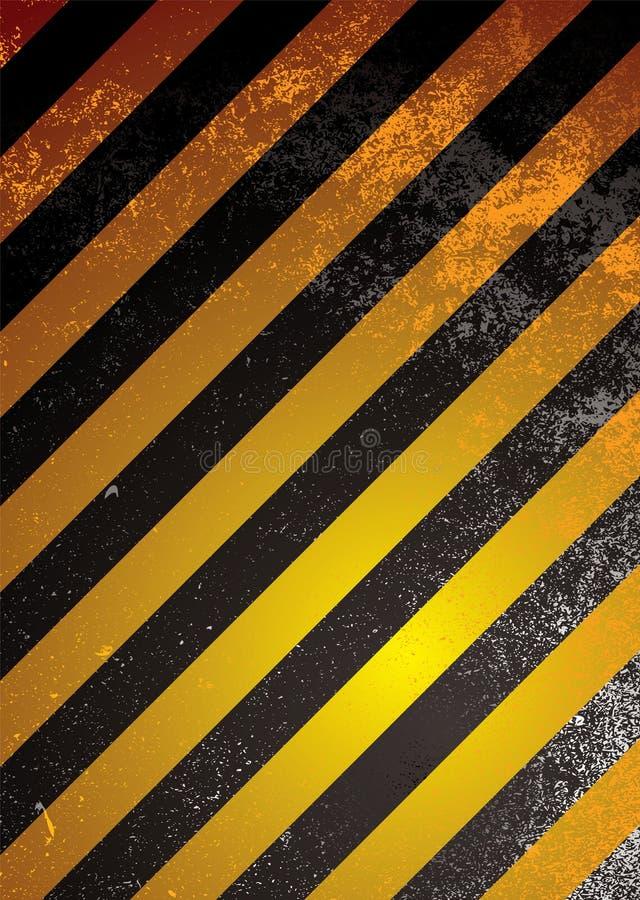 бдительное померанцовое предупреждение иллюстрация вектора