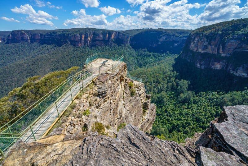 Бдительность утеса амвона, голубые горы национальный парк, Австралия 35 стоковое изображение