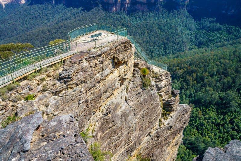 Бдительность утеса амвона, голубые горы национальный парк, Австралия 48 стоковая фотография