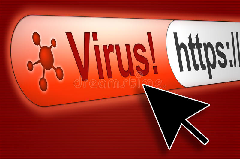 бдительный вирус интернета стоковое изображение
