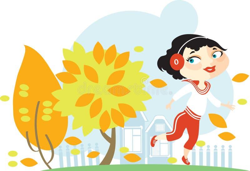 Бега девушки бесплатная иллюстрация