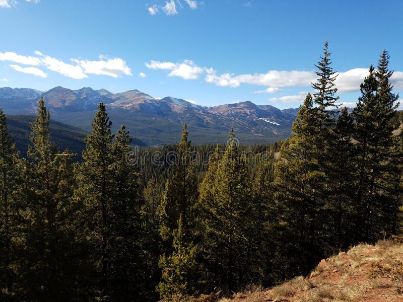 Бега лыжи Breckenridge Колорадо стоковые изображения