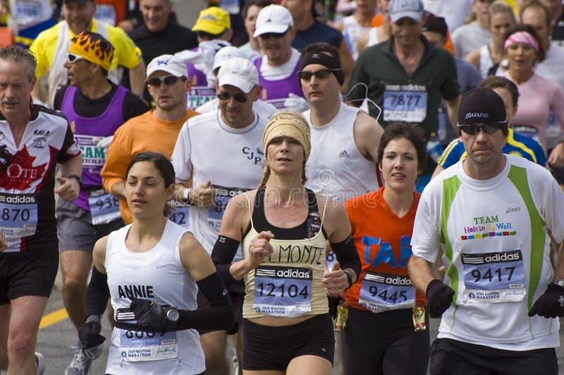 бегунки марафона boston стоковое фото rf