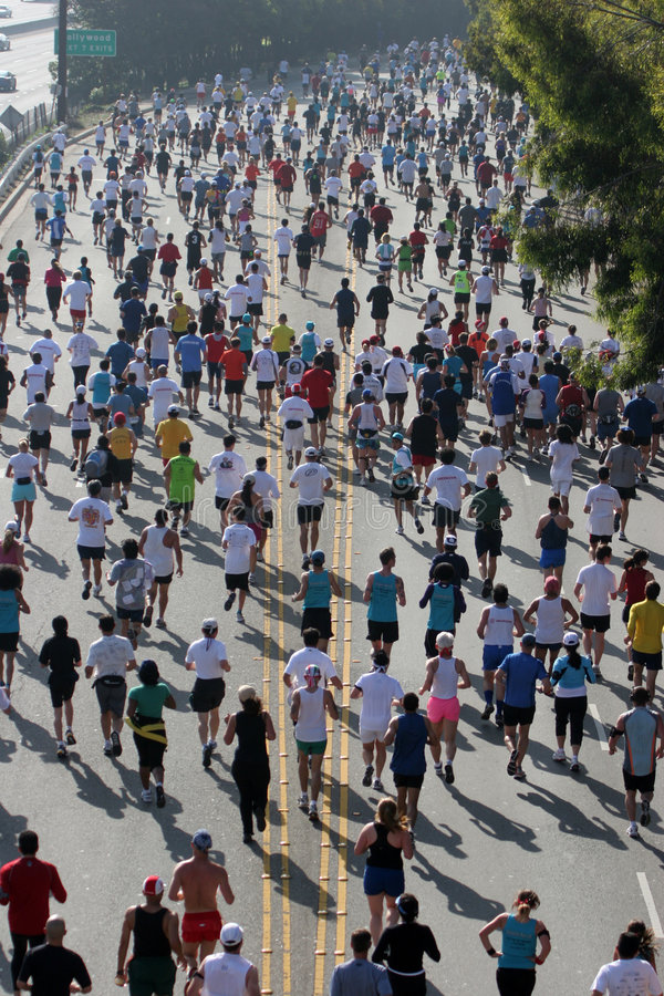 бегунки марафона hollywood рубрики шара к стоковое изображение rf
