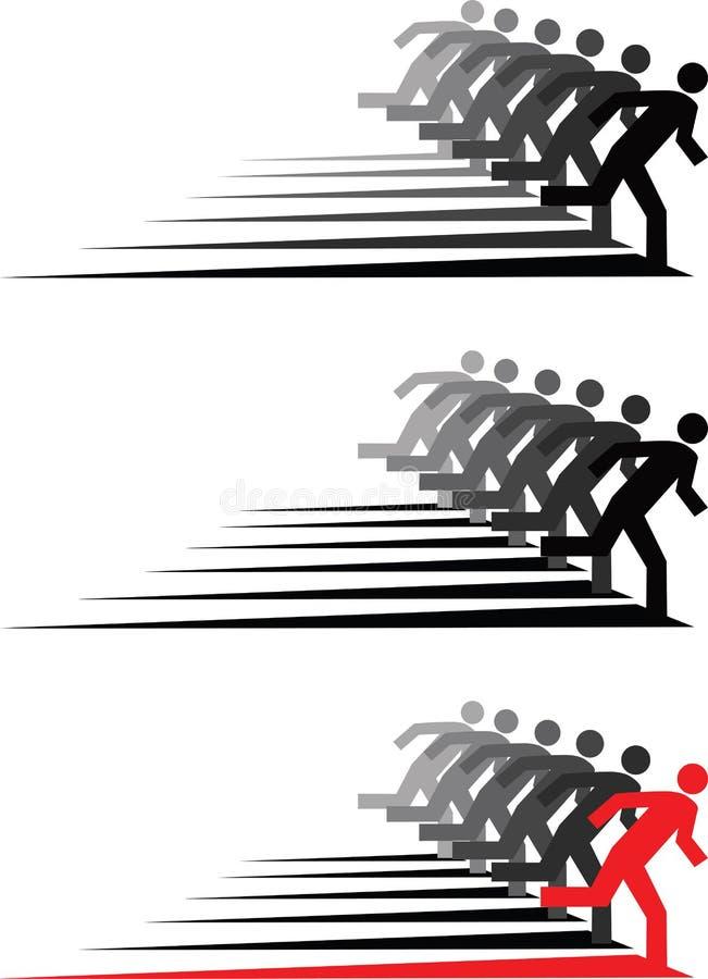 бег людей иллюстрация штока