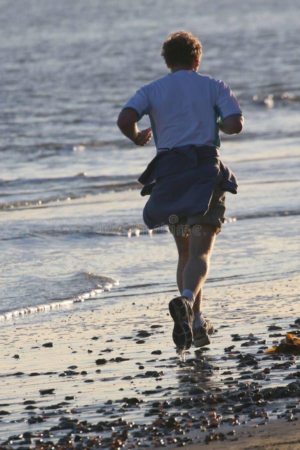 бег пляжа стоковое изображение