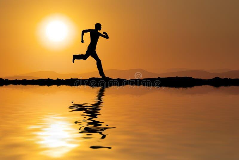 бег человека стоковое фото rf