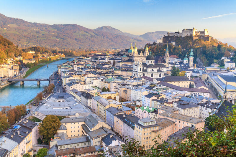 Бедный район крупного города Зальцбурга (Австрии) стоковое изображение rf