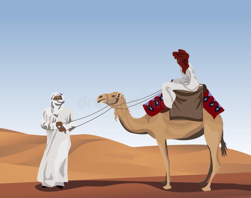 бедуины иллюстрация вектора
