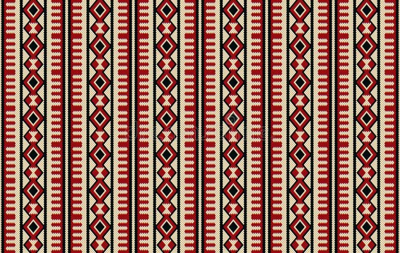 Бедуин Handma Sadu детального традиционного аравийца малинового красного цвета племенной иллюстрация штока