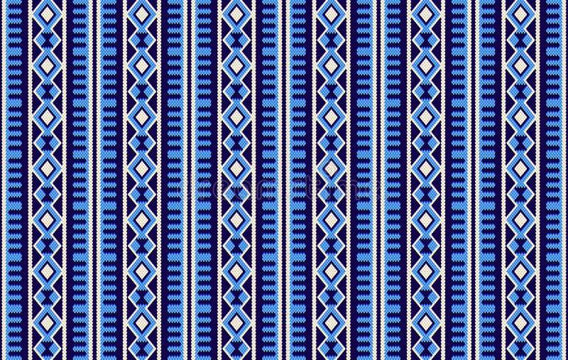 Бедуин Handma Sadu детального традиционного голубого аравийца племенной иллюстрация вектора