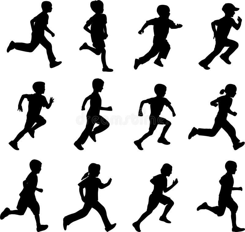бежать детей иллюстрация штока