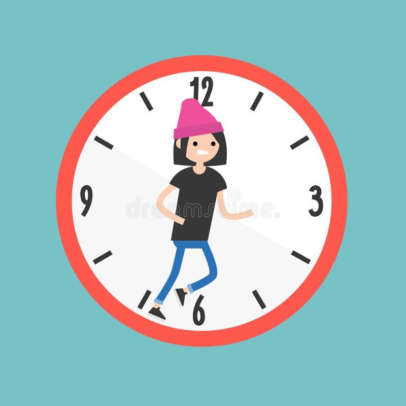 Бежать из иллюстрации времени схематической deadline Квартира редактирует бесплатная иллюстрация