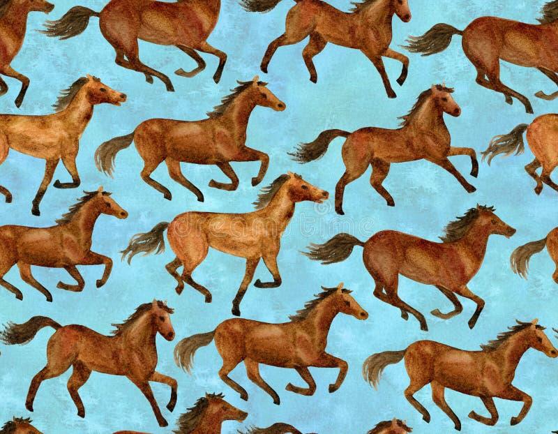бежать лошадей иллюстрация вектора