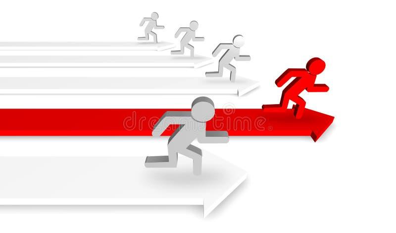 бежать людей иллюстрация штока