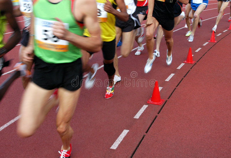 бежать спортсменов стоковая фотография