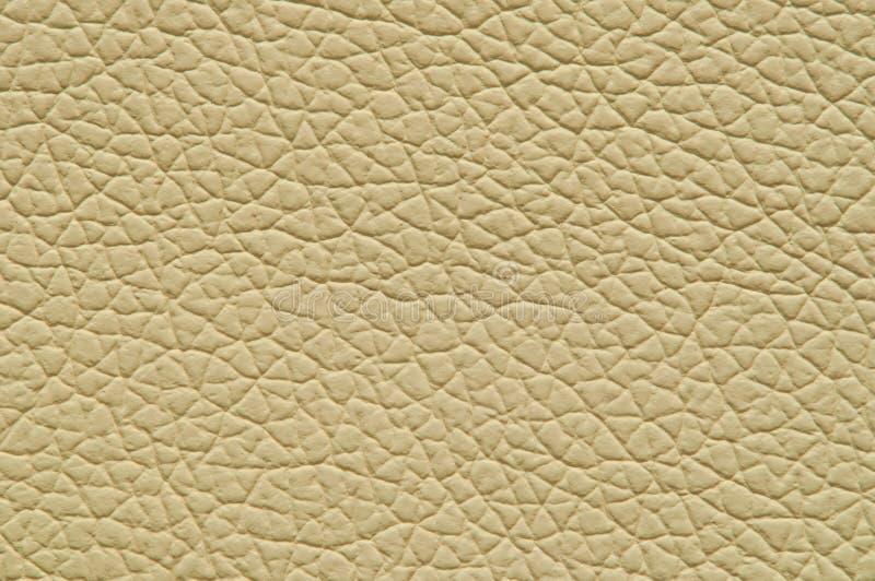 Бежевая искусственная кожа с большой текстурой стоковое изображение