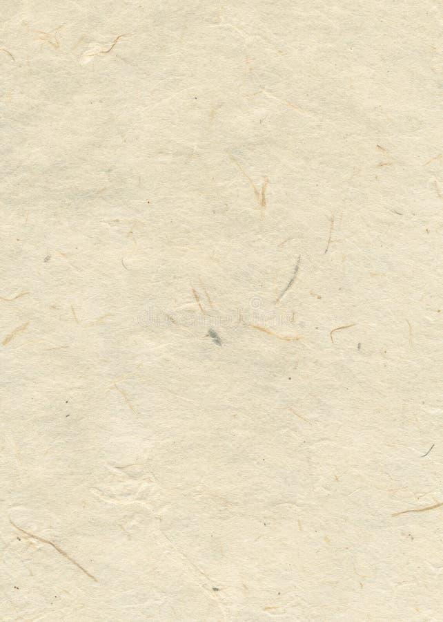 бежевая пустая текстурированная бумага ручного черпания стоковое изображение rf