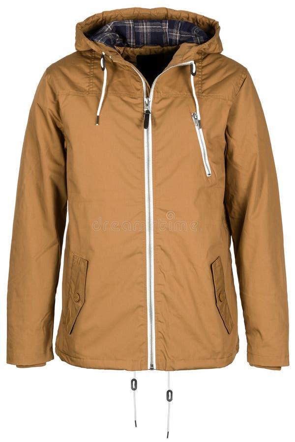 Бежевая теплая куртка стоковое фото rf
