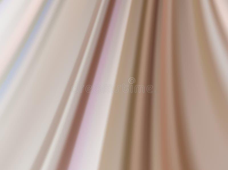 Бежевая silk предпосылка с некоторыми мягкими створками иллюстрация штока