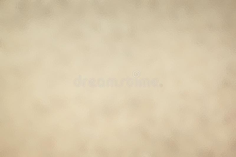 Бежевые абстрактные стеклянные предпосылка текстуры или картина, творческий шаблон дизайна иллюстрация штока