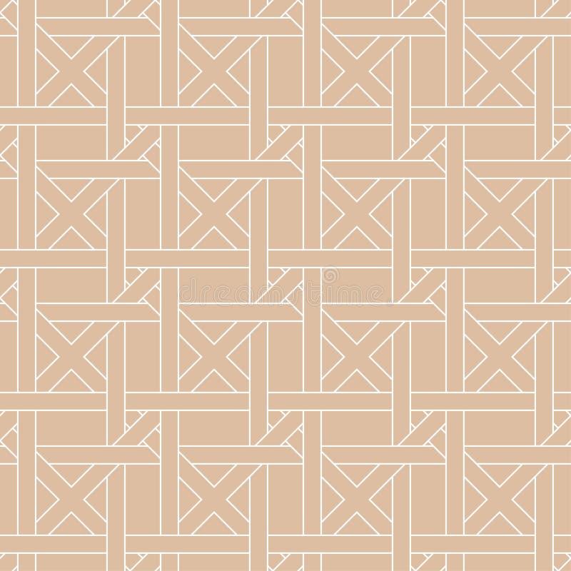 Бежевый геометрический орнамент картина безшовная иллюстрация штока