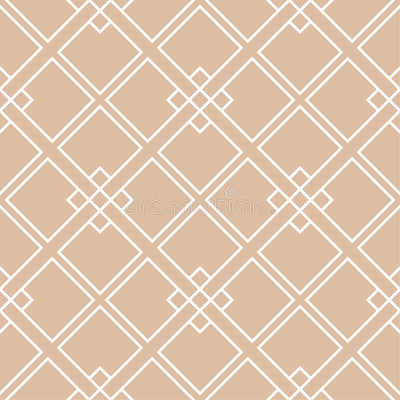 Бежевый и белый геометрический орнамент картина безшовная иллюстрация штока