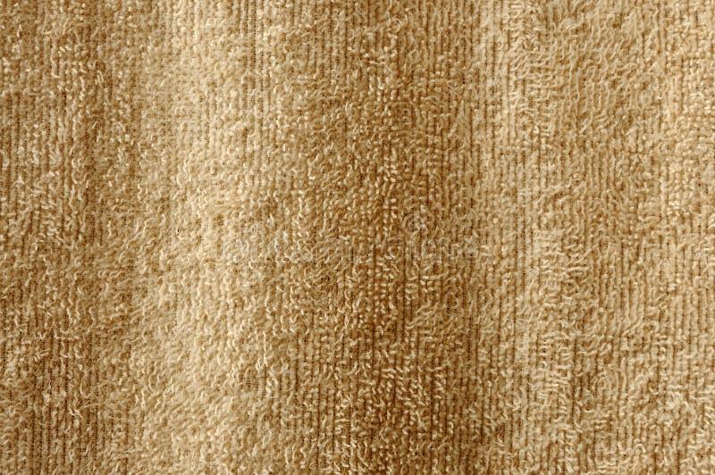 Бежевый крупный план полотенца хлопка стоковая фотография