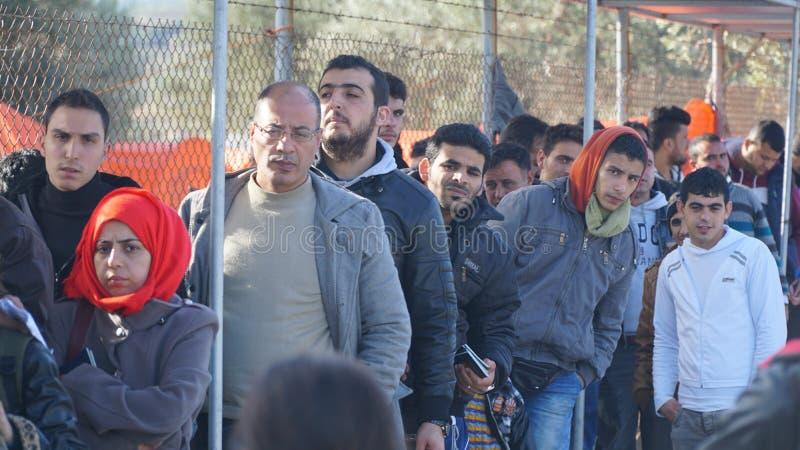 Беженцы в лагере стоковое фото