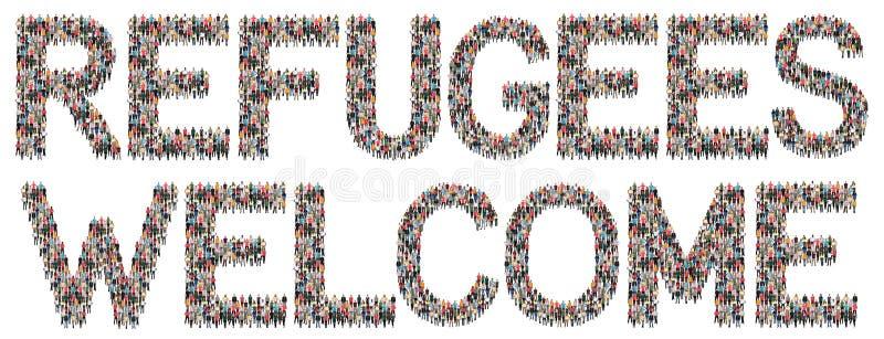 Беженцы приветствуют этническую группу иммигрантов multi людей стоковые изображения rf