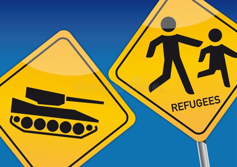 беженцы иллюстрация вектора