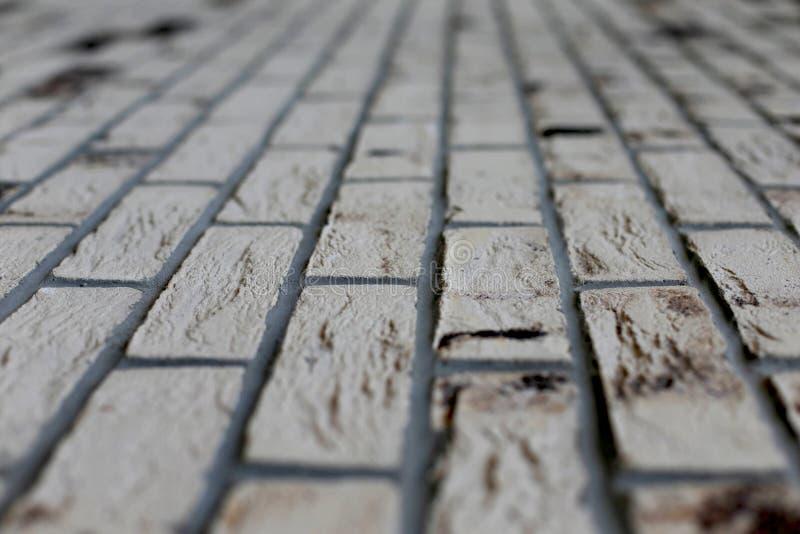 Беж света кирпичной стены предпосылки стоковая фотография rf