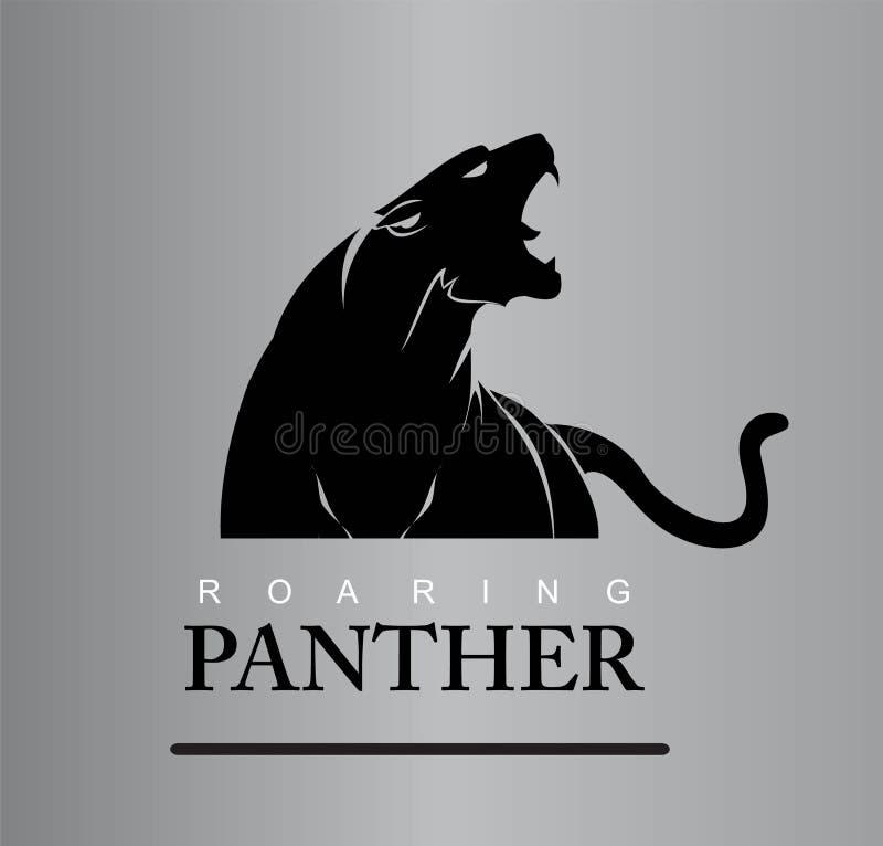 Безбоязненная пантера иллюстрация штока