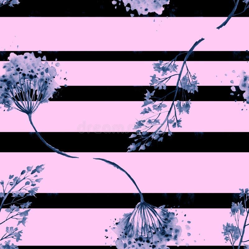 Безводная текстура, фон горизонтальные полосы, кисть Красивый удар, сплесень, абстрактное пятно иллюстрация вектора