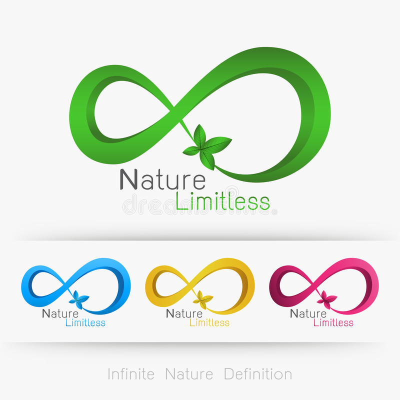 Безграничность логотипа с лист, иллюстрация штока