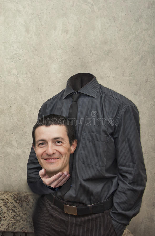 Безглавый бизнесмен стоковое изображение rf