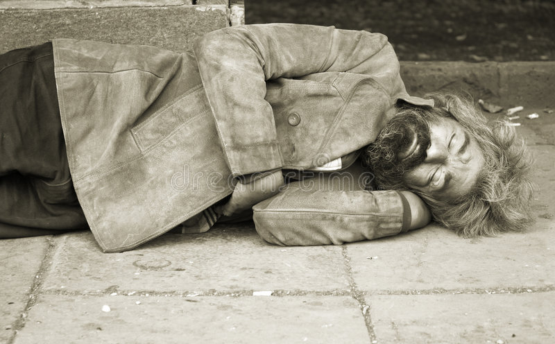 бездомная персона стоковое фото rf