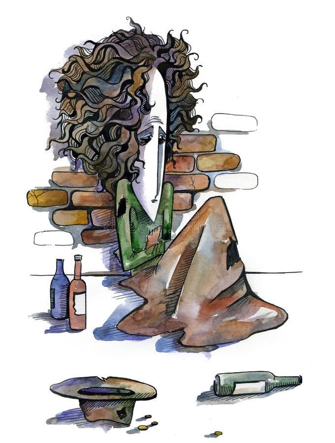 Бездомно иллюстрация вектора