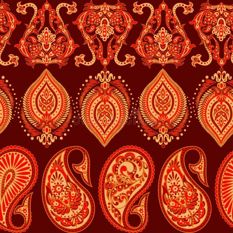 Безмолвная модель Paisley в индийском стиле Floral vector illustration иллюстрация вектора